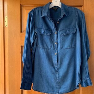J.Crew Indigo-Dyed Pop-Over